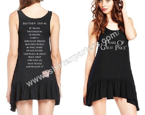 Ladies Viscose Tshirt Black