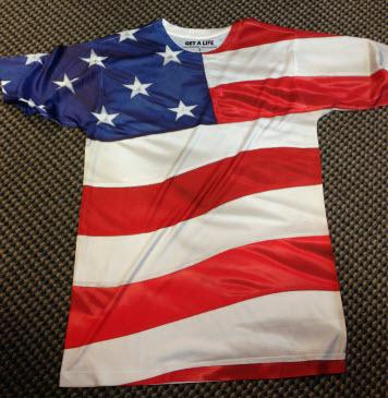 Men Sublimation USA print Tshirt