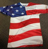 Men Sublimation USA print Tshirt