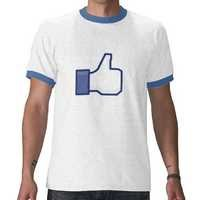 Facebook Like Men Tshirt