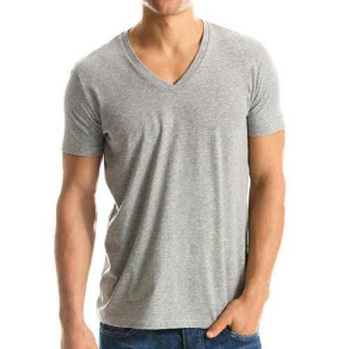 Men Deep V neck Milange Tshirt