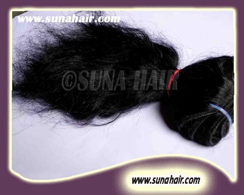 Silky Curly Virgin Natural Human Hair Extensions With Full Cuticles
