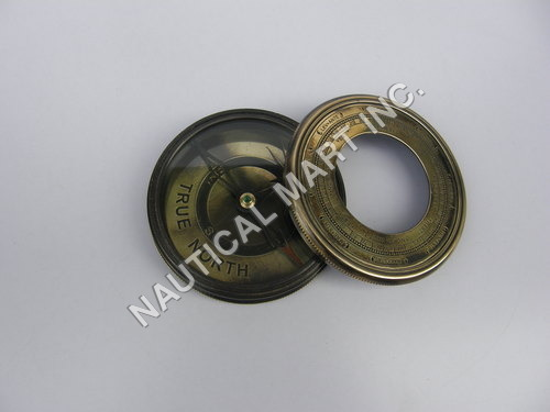 Antique Finish Solid Brass Pocket Compass
