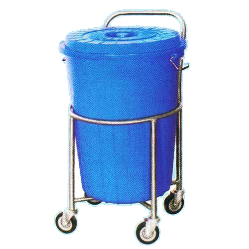 Garbage Trolley with Plastic Drum