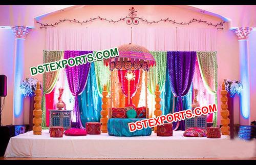 Asian Style Wedding Mehandi Stage