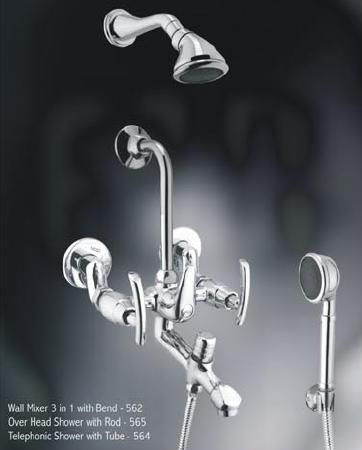 Wall Mixer 3 in 1 With Bend Pixel