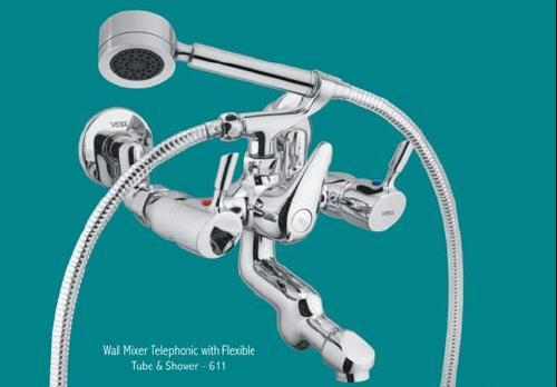 Wall Mixer With Flexible Tubed Shower Shipra