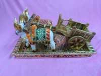 WOODEN GADA WITH BELL & TRAY