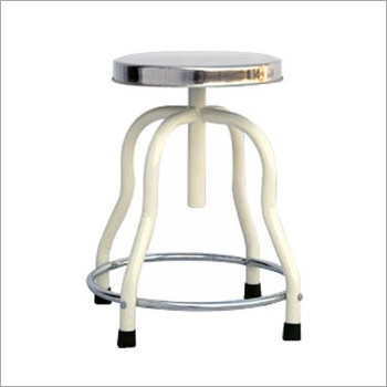 SS Top Revolving Patient Stool
