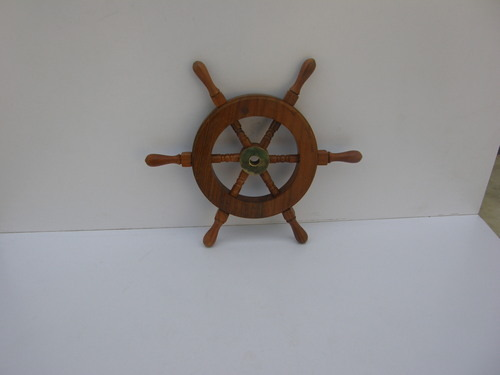"ANTIQUE VINTAGE WOODEN MARITIME DÉCOR 9"" SHIP WHEEL"