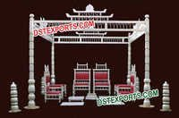 Indian Wedding Sankheda Wooden Mandap