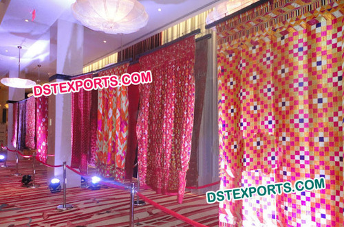 Punjabi Wedding Phulkari Backdrops