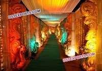 Wedding Walkway Peacock Theme Entrance Pillars