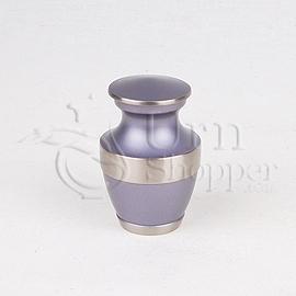Lineas Starlight Blue Brass Metal Token Cremation Urn