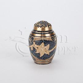 Marble Patina Brass Metal Token Cremation Urn