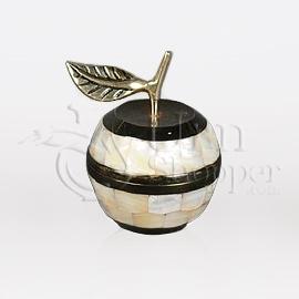 Mother of Pearl Mela Brass Metal Token Cremation Urn