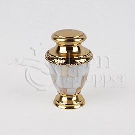 Pearl Brass Metal Token Cremation Urn