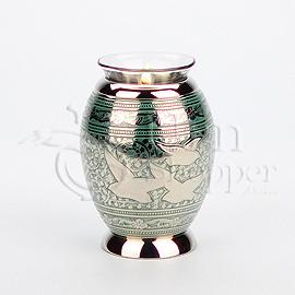 Returning Home Tealight Brass Metal Keepsake Cremation Urn