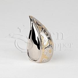 Teardrop Silver-Gold Token Cremation Urn