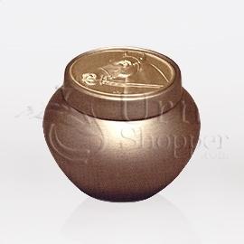 Tempus Gold with Horse Token Brass Metal Cremation Urn
