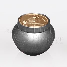 Tempus Silver with Horse Token Brass Metal Cremation Urn
