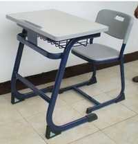 School single seat desk bench