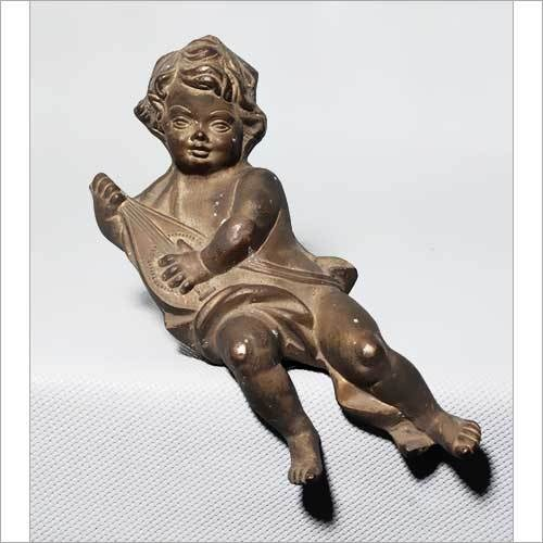 Brass Cherub Sculpture