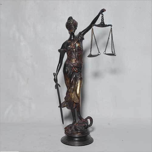 Brass Lady Justice