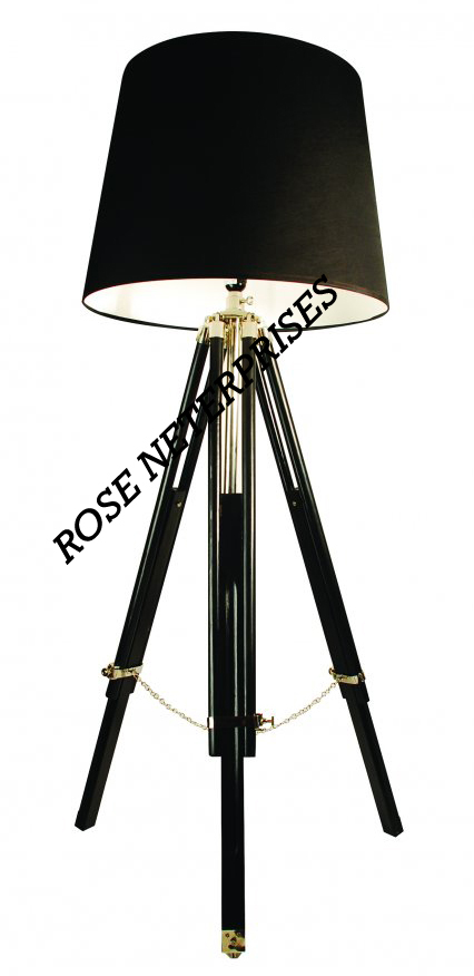 Black Shade Lamp Stand