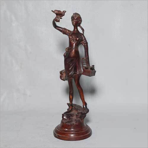 Lady with Birds Statue