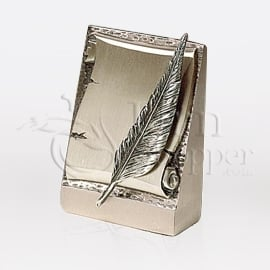 Parchment Bronze Metal Token Cremation Urn