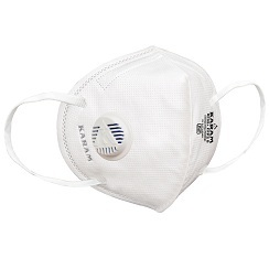 Karam Rf02+ Disposable Respirator With Ear Loop And Exhalation Valve