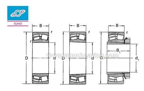 SUMO 24048 Spherical Roller Bearing & Dimensions