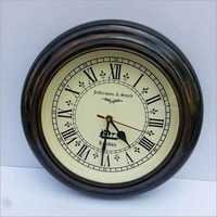 "BEAUTIFUL 11.5""ANTIQUE STYLE ROUND HANGING DARK BROWN WALL CLOCK"