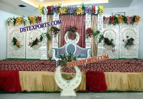 INDIAN WEDDING SILVER STAGE SET
