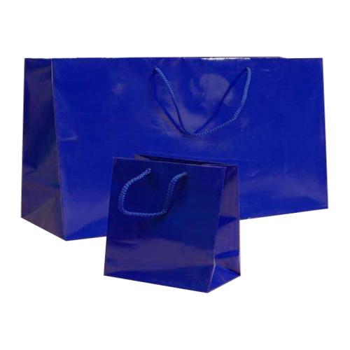 Blue Kraft paper bag