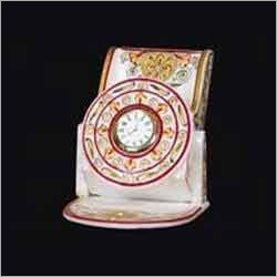 Marble Clock with Stand