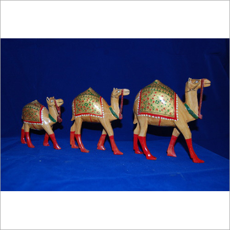Wooden Camel Statue