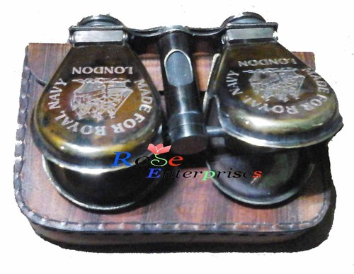 maritime Antique brass pocket folding Binoculars