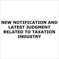 Judgement Related to Taxation Industry Info.