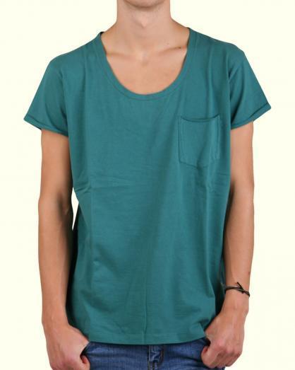 Men broad neck pocket tshirt