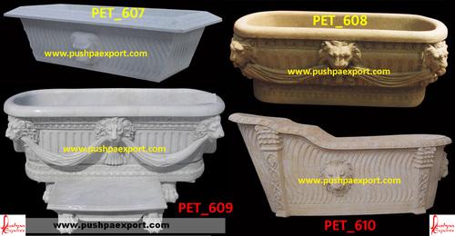 Lion Figure Stone Bathtubs