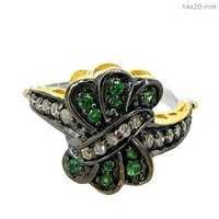 Tsavorite Diamond Gold Ring