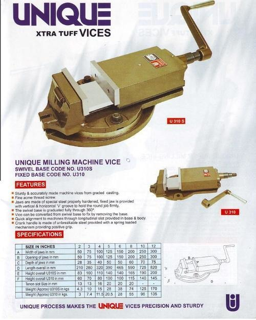 Unique Milling Machine Vice
