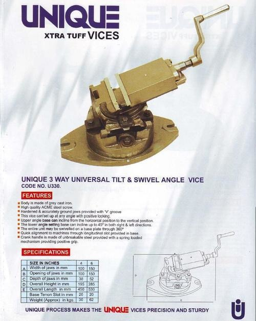 Unique Tilt Swivel Angle Vice
