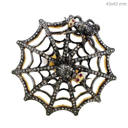 Diamond Spider Web Ring