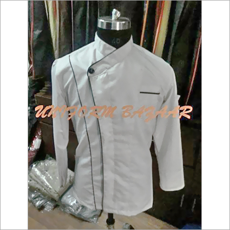 Black Piping White Chef Coat