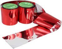 Red Silver Visual Audible Deterrent Tape