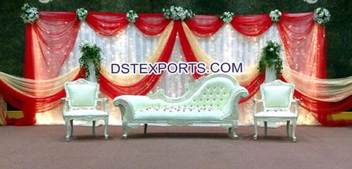 Asian Wedding Mehandi Stage Furniture Set