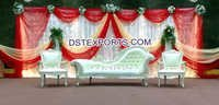 Asian Wedding Mehandi Stage Furniture Set